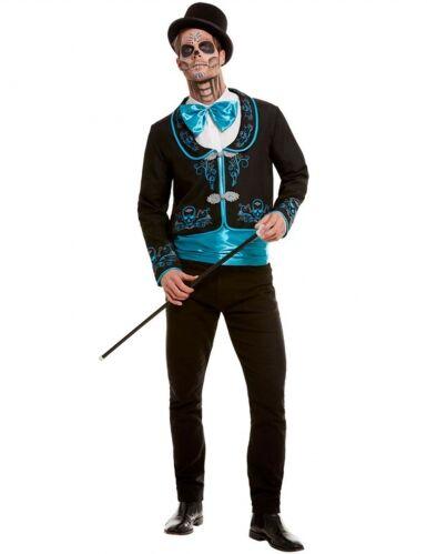 SMIFFYS Costume dia de los muertos azzurro uomo XL