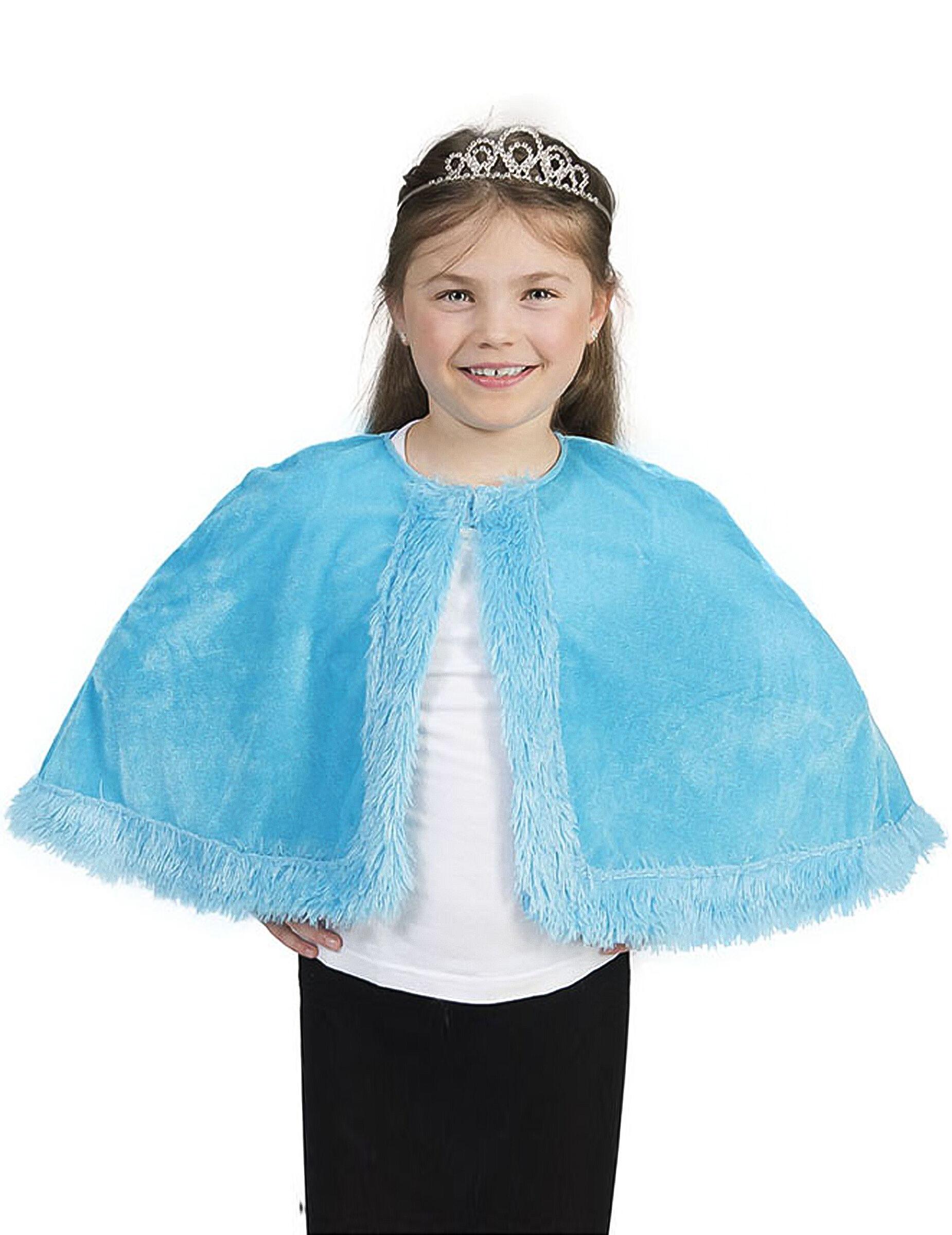 Vegaoo Mantella in pelo blu Bambina