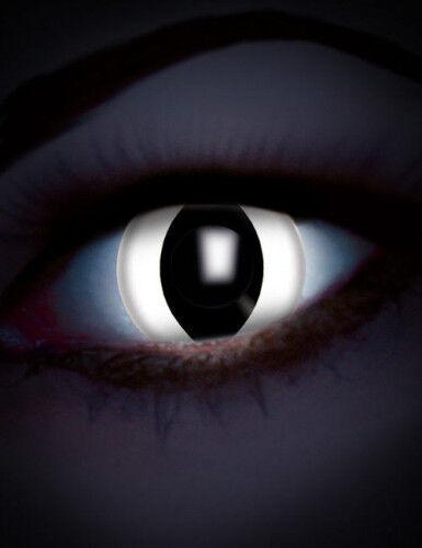 ZOELIBAT Lenti a contatto UV rettile bianco per adulto Taglia Unica