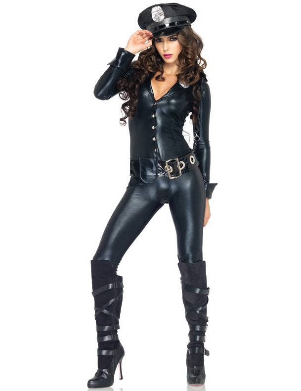 Vegaoo Costume poliziotta effetto lattice per donna - M