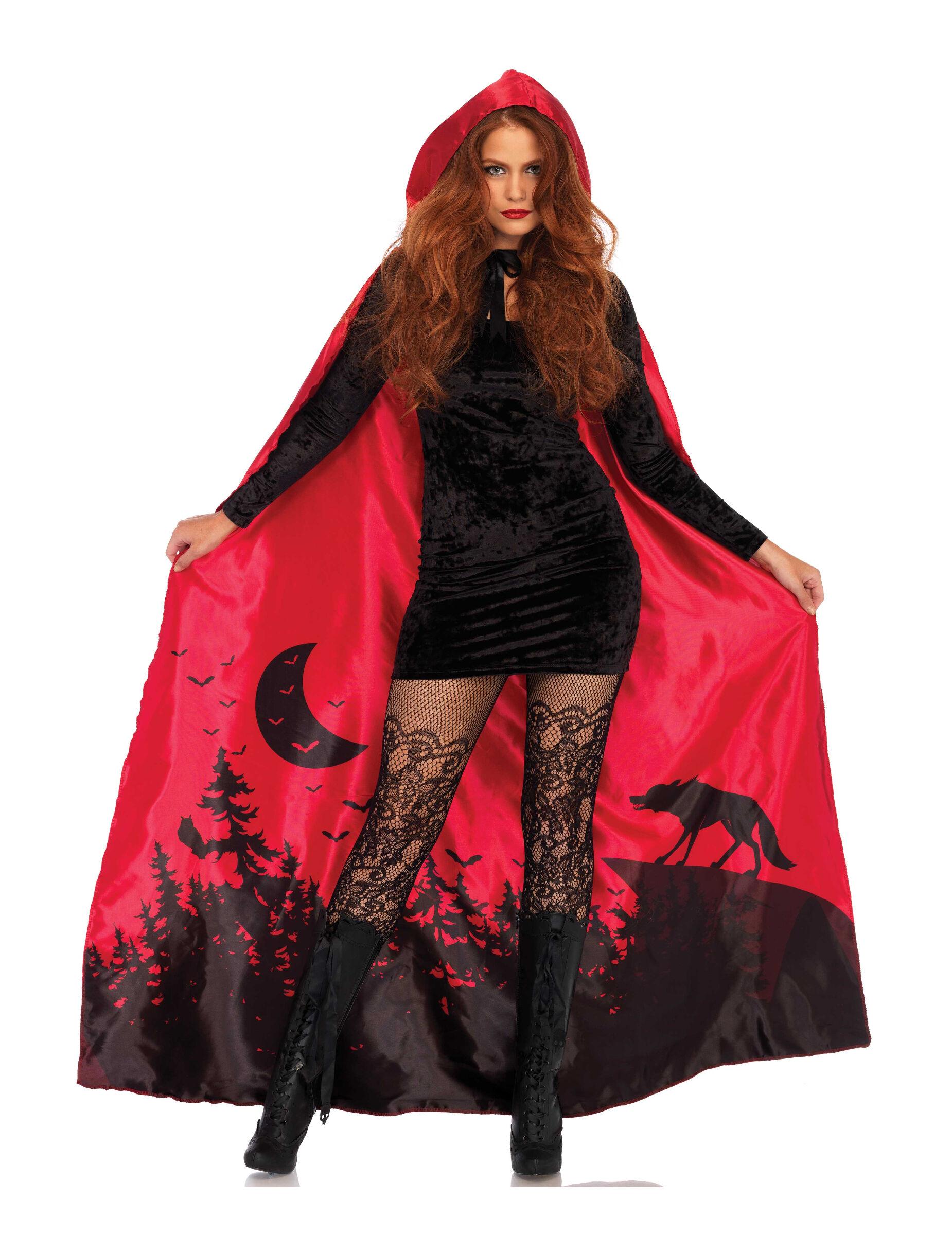 Vegaoo Mantello deluxe rosso per donna