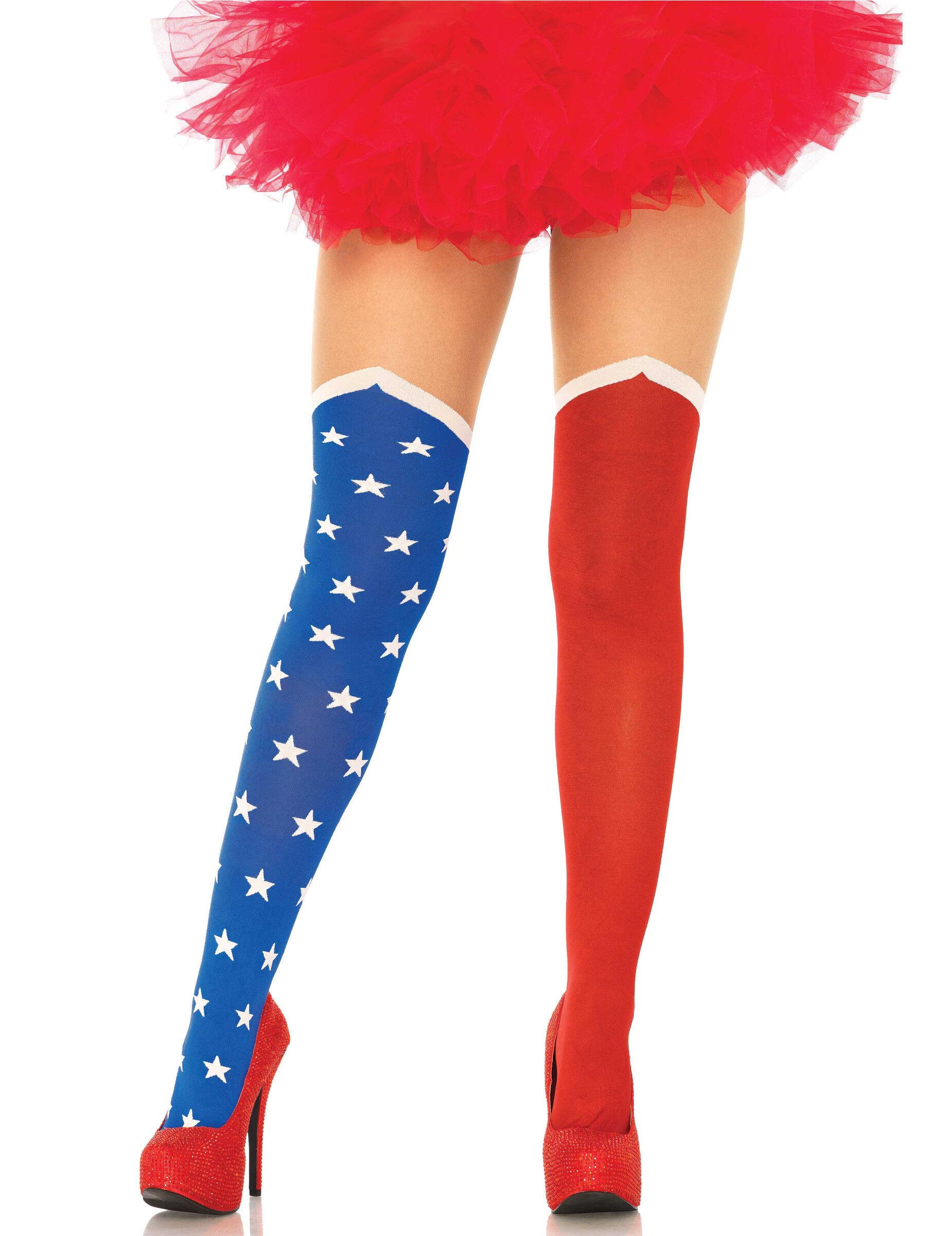 Vegaoo Calze opache bandiera americana
