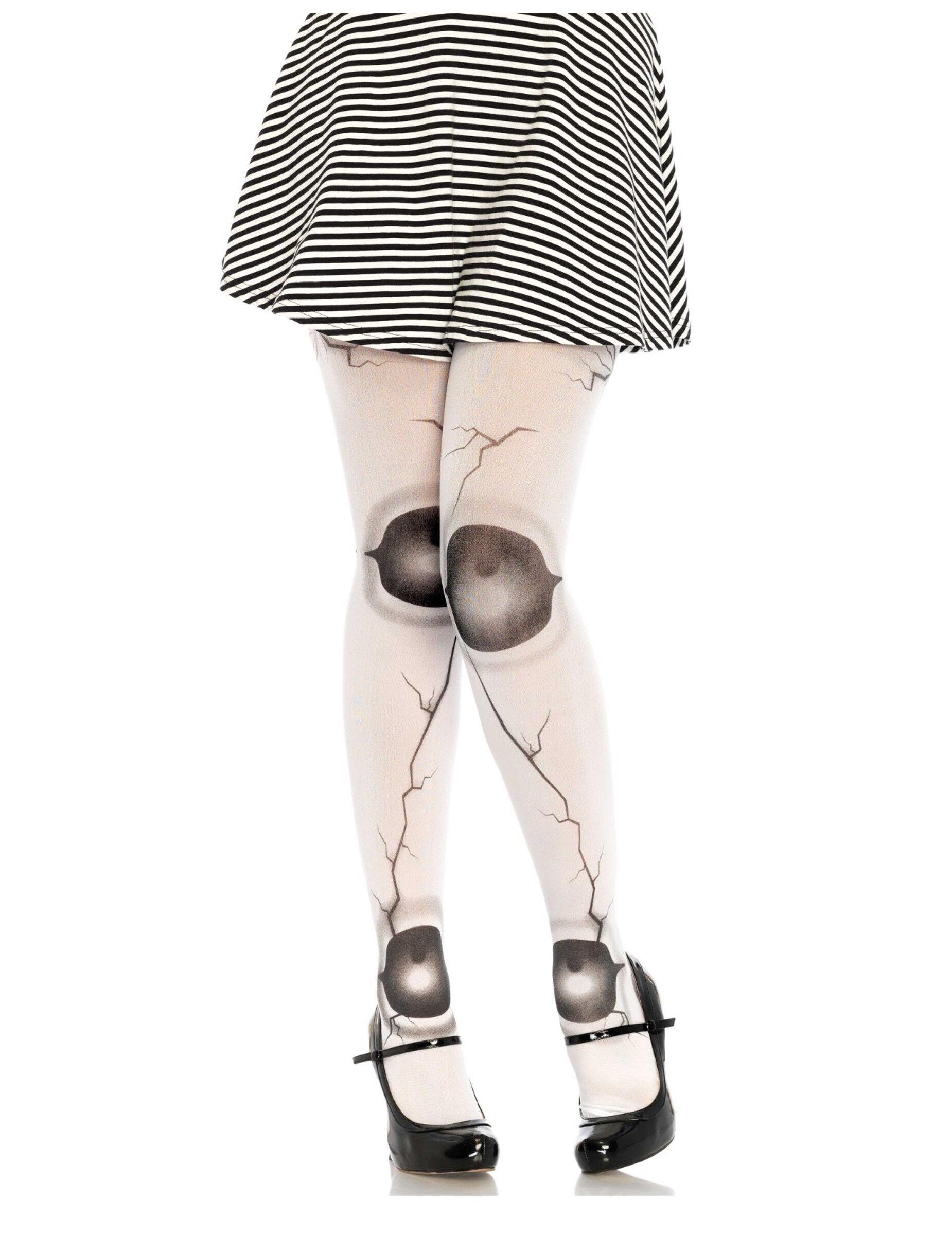 Vegaoo Calze bambola scheggiata donna