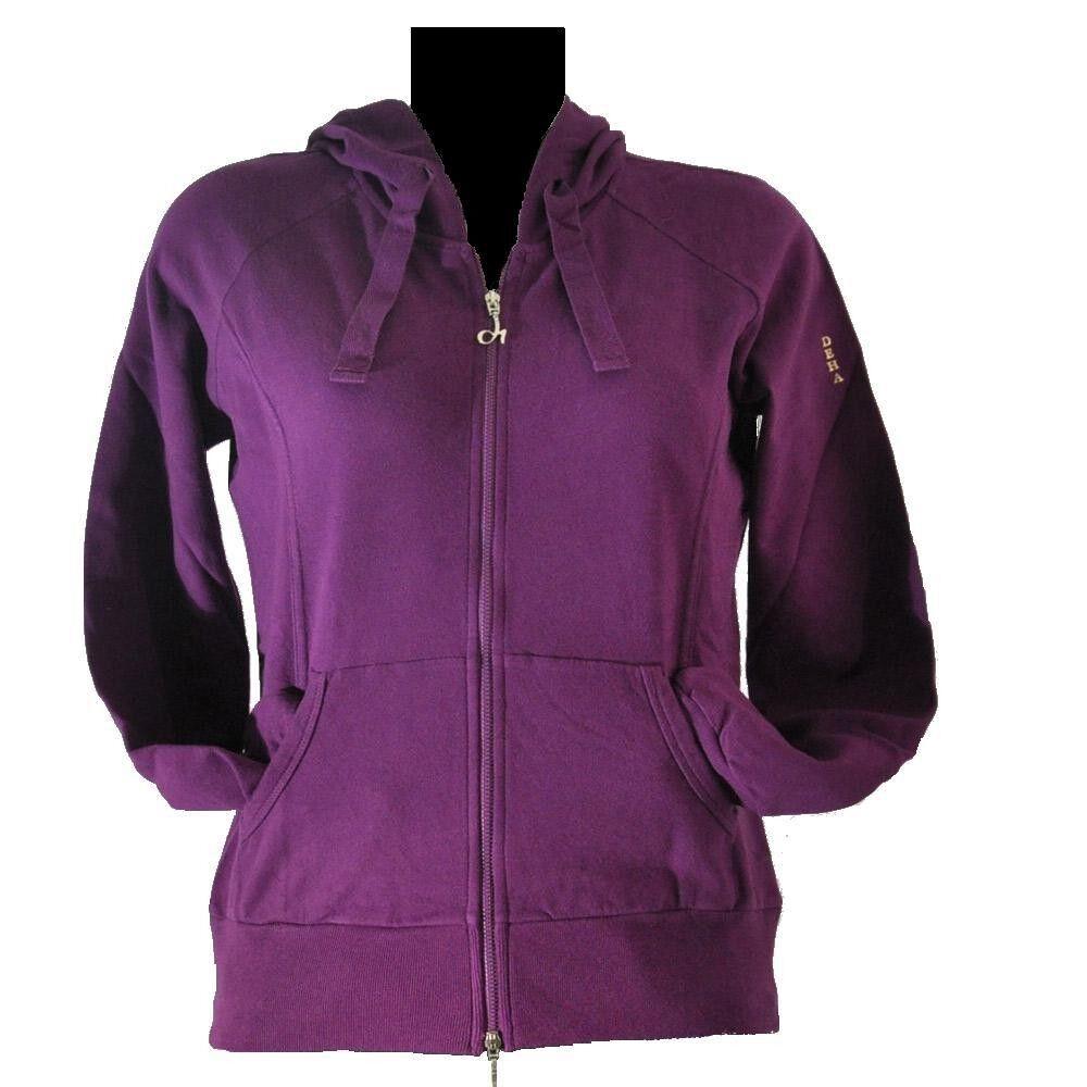 Deha Felpa donna Full Zip Cap Gymwork, Taglia: S, Per adulto Donna, Viola, B52832-43065, IN SALDO!