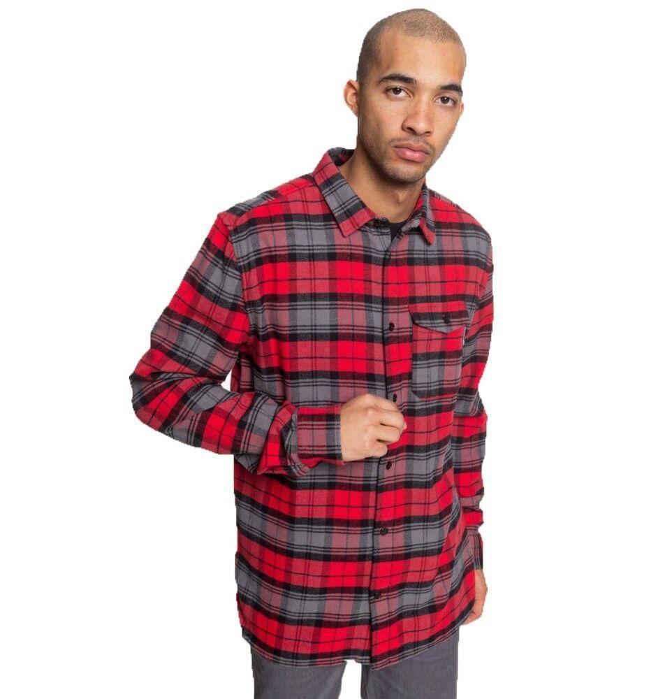 DCShoe Camicia Uomo Flanella Marsha, Taglia: S, Per adulto Uomo, Rosso, EDYWT03207-RQRO