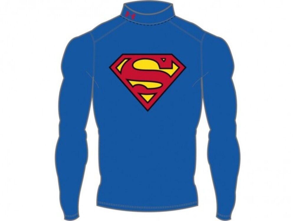 Under Armour t-shirt uomo Superman Evo Compression Goldgear, Taglia: L, Per adulto Uomo, Blu, 1268307-400, IN SALDO!