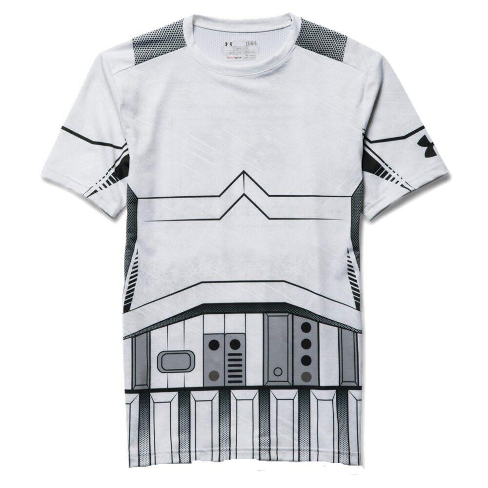 Under Armour T-Shirt Uomo Star Wars, Taglia: M, Per adulto Uomo, Bianco, 1273450-100, IN SALDO!
