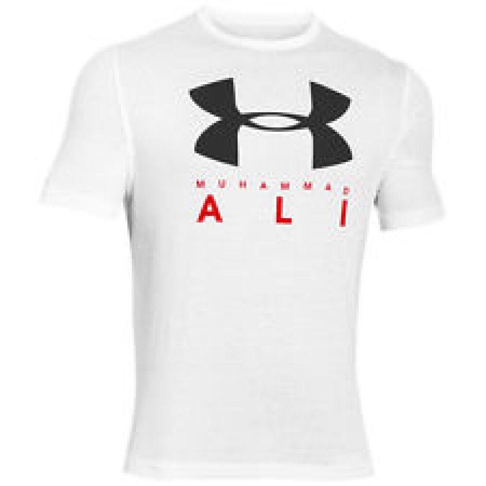 Under Armour T-Shirt Uomo Ua Ali Sportstyle Stack, Taglia: L, Per adulto Uomo, Bianco, 1275548-100, IN SALDO!