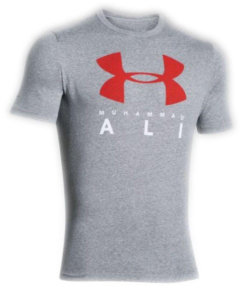 Under Armour T-Shirt Uomo Ua Ali Sportstyle Stack, Taglia: S, Per adulto Uomo, Grigio, 1275548-025, IN SALDO!