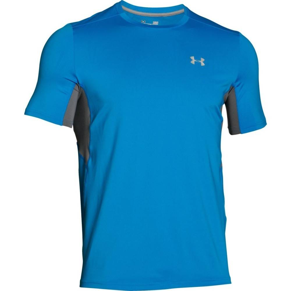 Under Armour T-Shirt Uomo Coolswitch Run, Taglia: S, Per adulto Uomo, Azzurro, 1271844-428, IN SALDO!