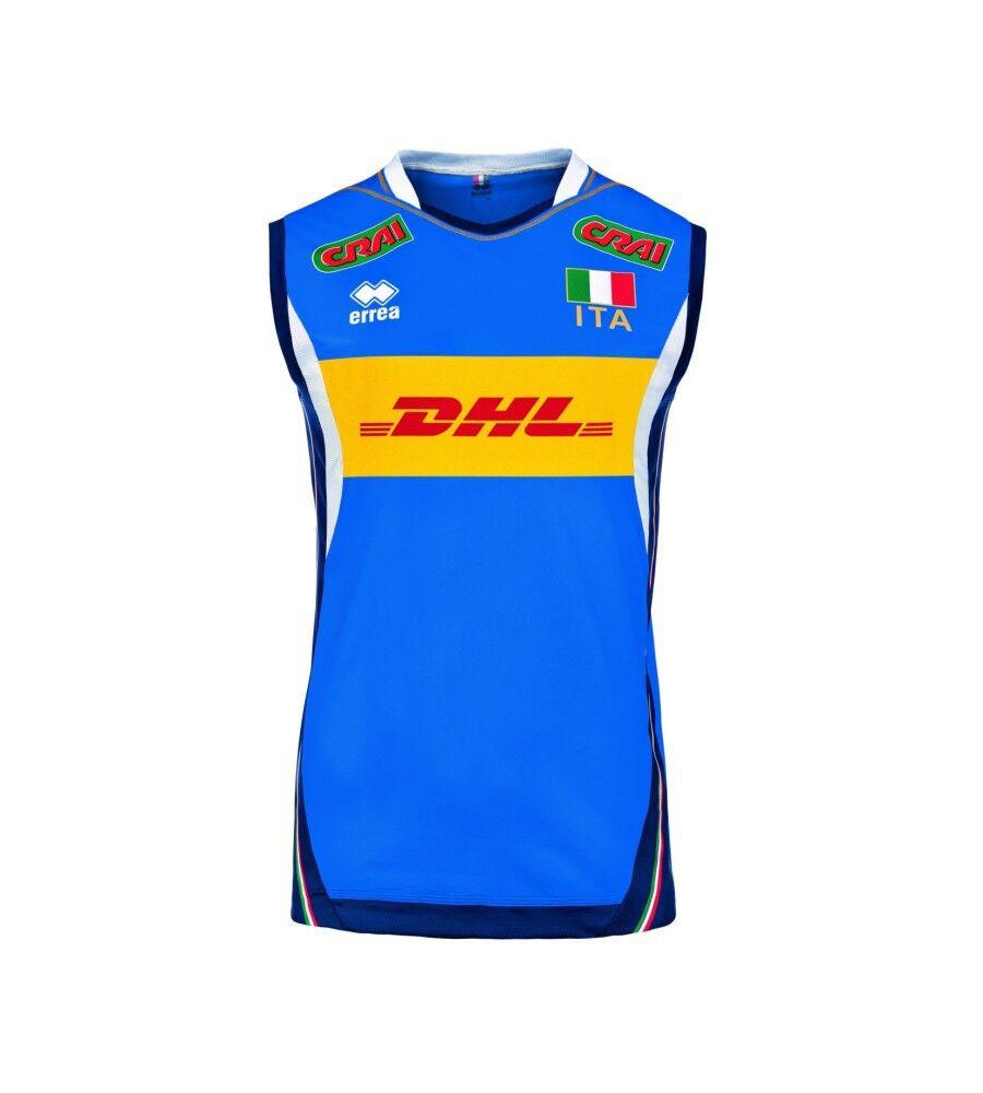 Errea Maglia Italia Volley Uomo Gara Official, Taglia: XL, Per adulto Uomo, Azzurro, SMGI6S0158050FIV