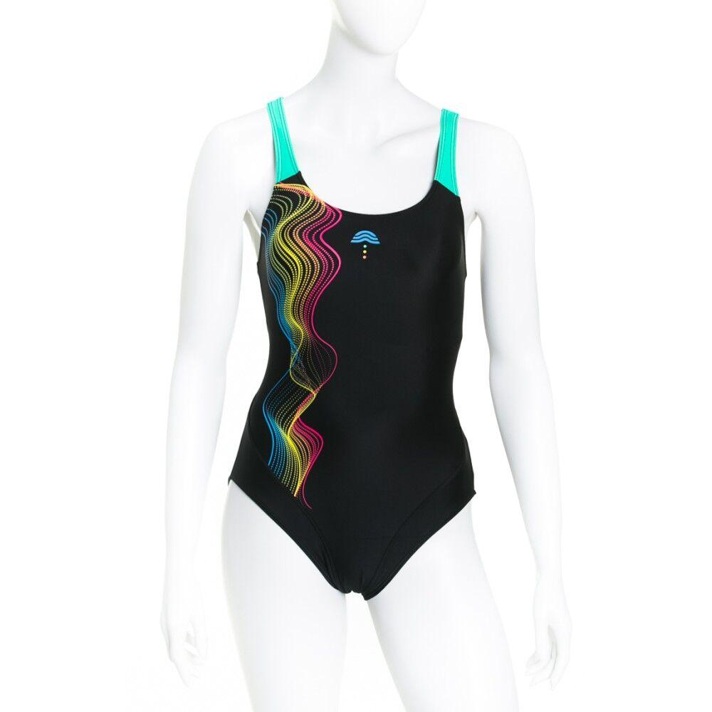 Aquarapid Costume Donna Intero Alixy, Taglia: 46, Per adulto Donna, Nero, ALIXY-C, IN SALDO!