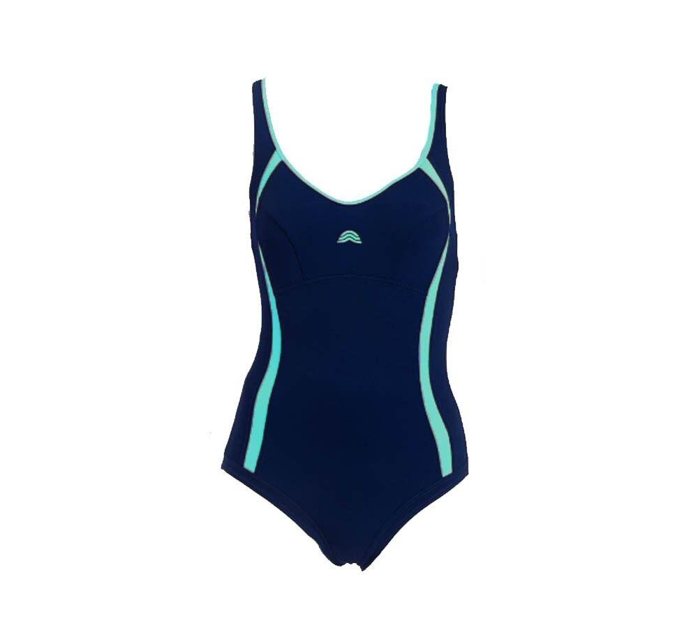 Aquarapid Costume Intero Nuoto Donna Awen, Taglia: 54, Per adulto Donna, Blu, AWEN BD, IN SALDO!