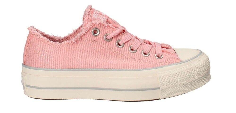 Converse Sneakers Scarpe Donna CT All Star OX Denim Plat, Taglia: 36, Per adulto Donna, Rosa, 560948C, IN SALDO!