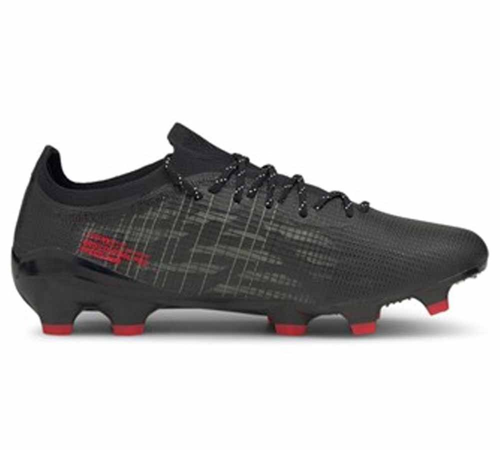 Puma Scarpe Calcio Ultra 1.3 FG/AG Faster Football Pack, Taglia: 43, Unisex, Nero, 106477-03