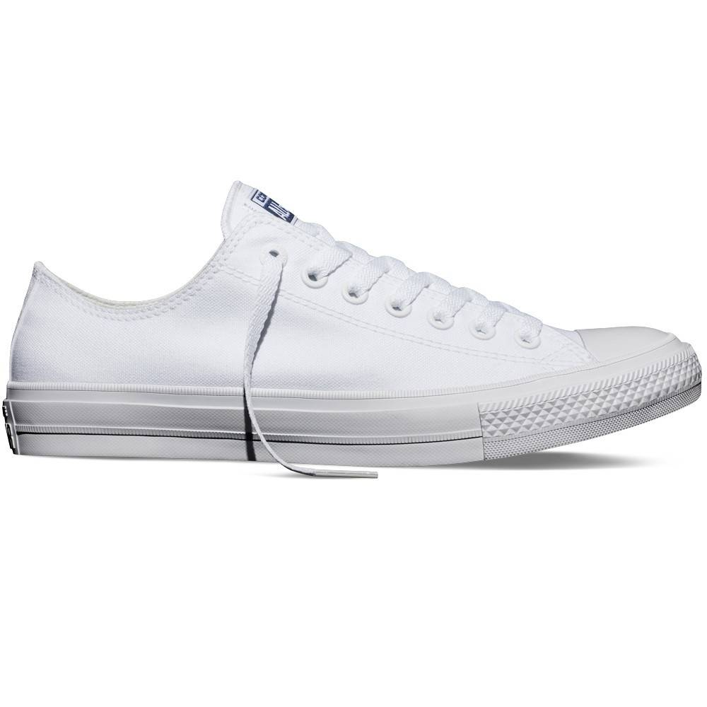 Converse Sneakers Scarpe Canvas Chuck II Ox, Taglia: 37, Unisex, Bianco, 150154C 100, IN SALDO!