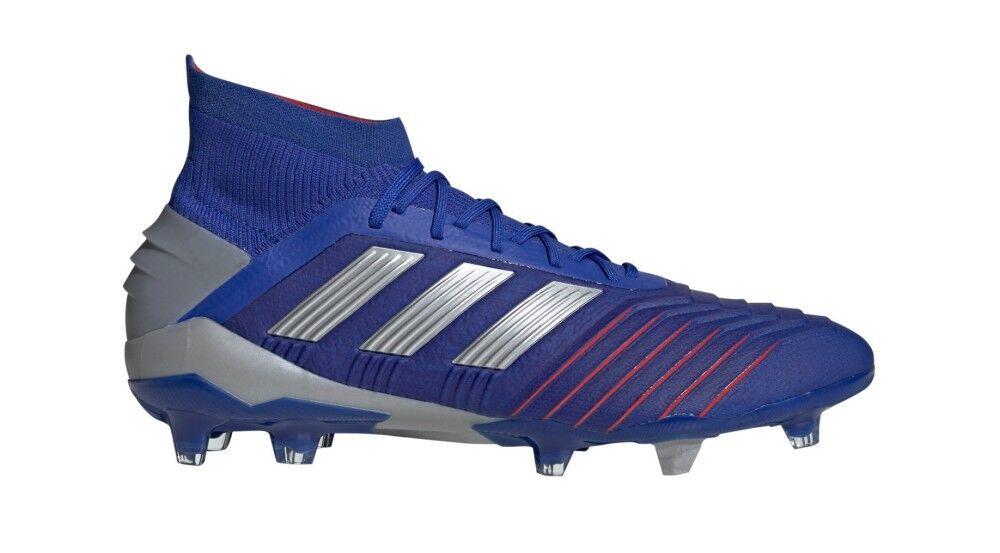 Adidas Scarpe Calcio Predator 19.1 FG Exhibit Pack, Taglia: 40 2/3, Per adulto Uomo, Blu, BB9079