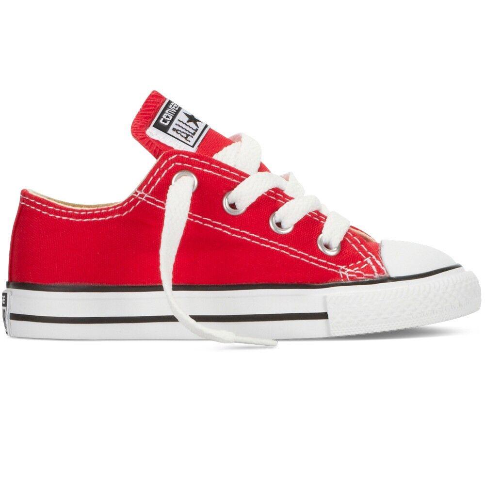 Converse Sneakers Scarpe Chuck Taylor Canvas Core Ox Jr, Taglia: 34, Per Bambino/a, Rosso, 3J236C 600, IN SALDO!