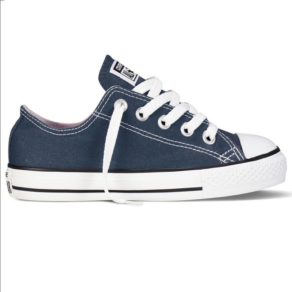 Converse Sneakers Scarpe Chuck Taylor Canvas Core Ox Jr, Taglia: 34, Per Bambino/a, Blu, 3J237C 410, IN SALDO!
