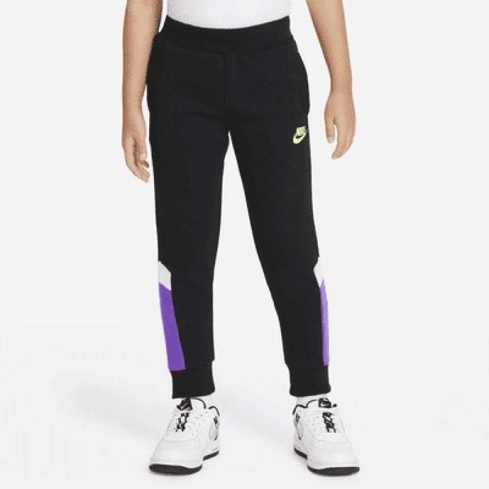 Nike Pantaloni Bambino Blocked, Taglia: 2A/3A, Per Bambino/a, Nero, 86H976-023