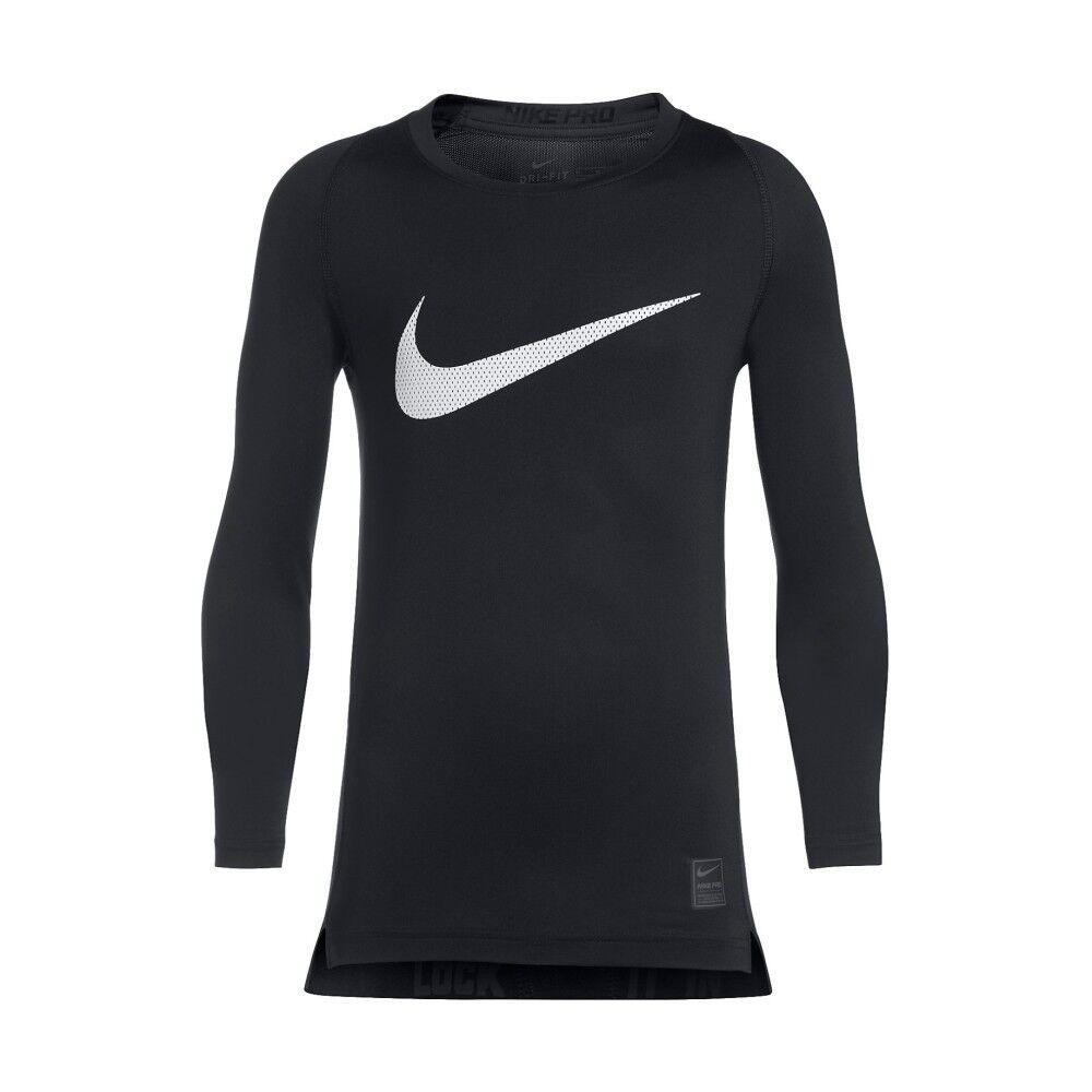 Nike T-Shirt Calcio Junior Pro Combat HyperCool, Taglia: L, Per Bambino/a, Nero, 726460-010