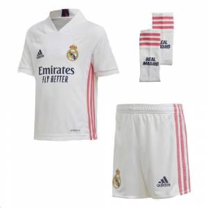 Adidas Kit Junior Real Madrid Home 2020/21, Taglia: 13/14A, Unisex, Bianco, FQ7489