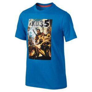Nike T-shirt bambino KD Hero, Taglia: S, Per Bambino/a, Azzurro, 611430-463
