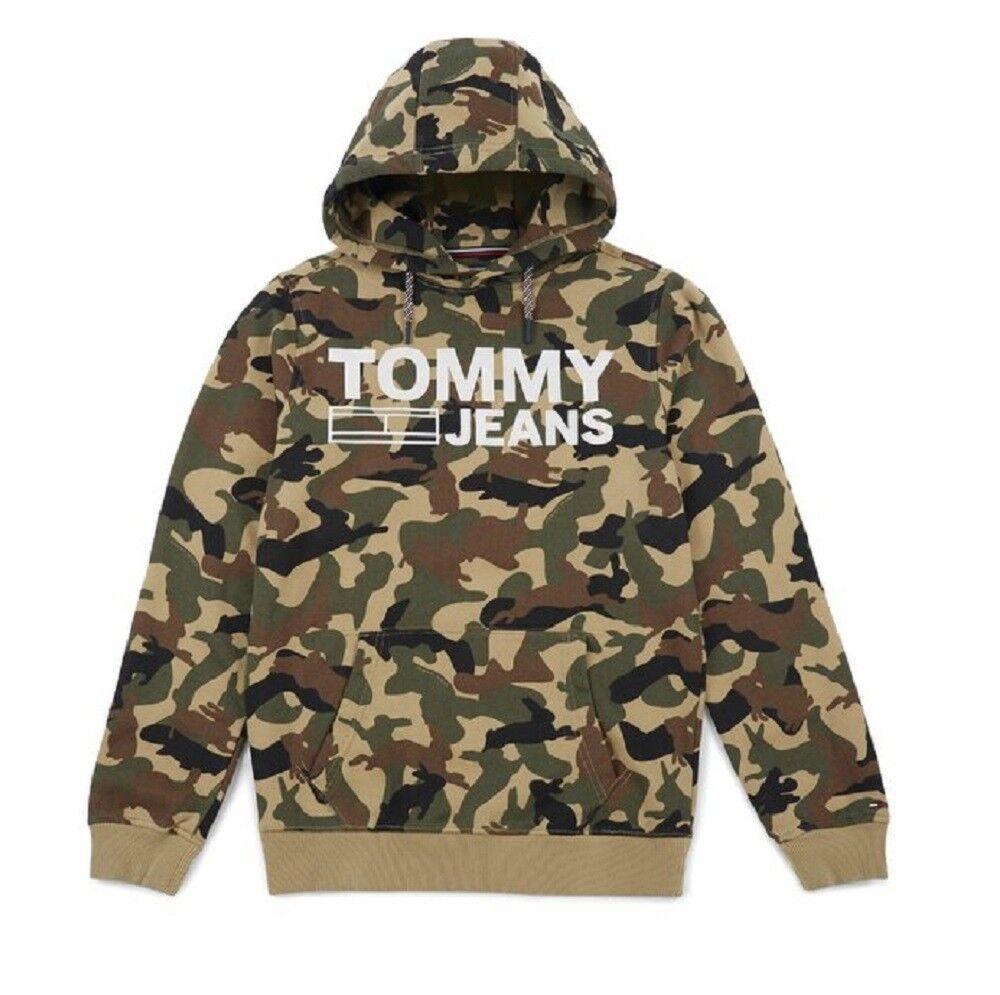 Tommy Jeans Felpa Uomo Camo 34, Taglia: XL, Per adulto Uomo, Fantasia, DM0DM03965-017, IN SALDO!