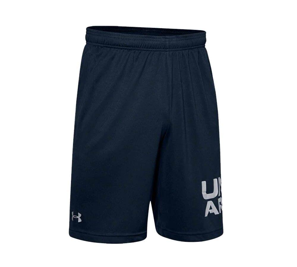Under Armour Shorts Uomo UA Tech Wordmark, Taglia: L, Per adulto Uomo, Nero, 77-1351653-0002, IN SALDO!