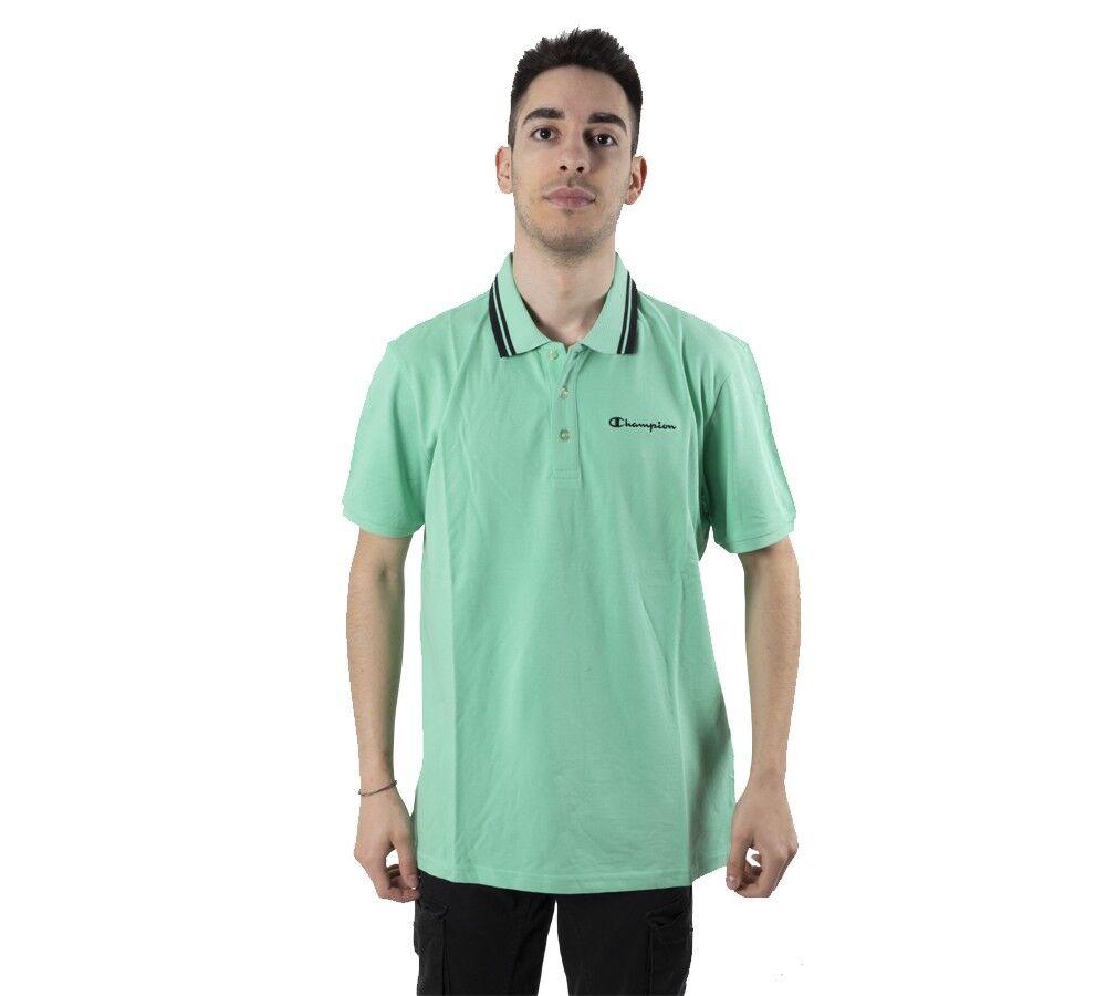 Champion Polo Light Cotton Piquet, Taglia: S, Per adulto Uomo, Verde, 216088-GS082