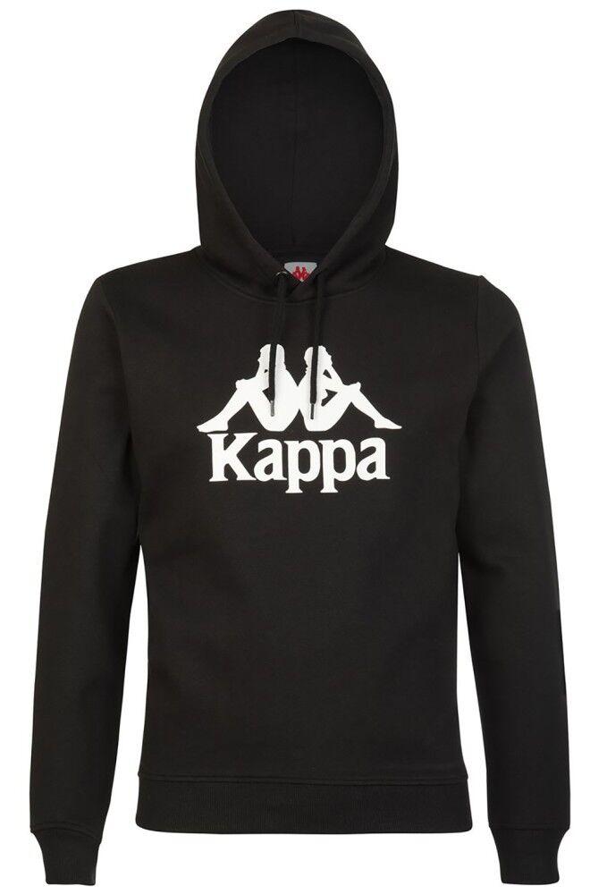 Kappa Felpa Uomo Esmio Logo, Taglia: XS, Per adulto Uomo, Nero, 303L0R0-945, IN SALDO!
