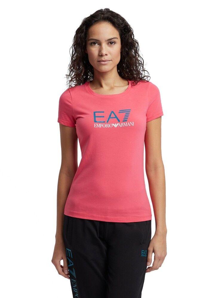 Ea7 T-Shirt Donna Train Shinny, Taglia: L, Per adulto Donna, Rosa, TJ12Z-3GTT62-1456, IN SALDO!