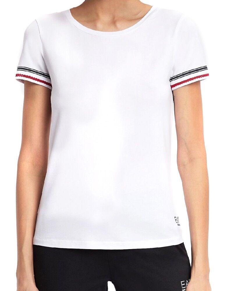 Ea7 T-Shirt Donna Sea World Cannes, Taglia: XS, Per adulto Donna, Bianco, TJ28Z-3GTT02-1100, IN SALDO!
