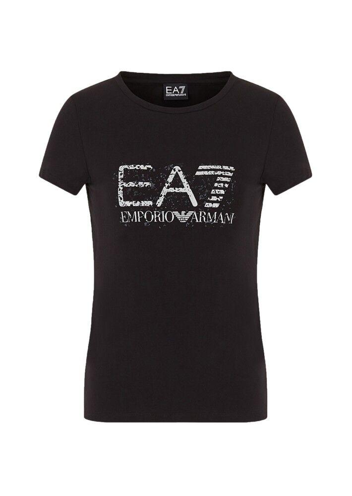 Ea7 T-shirt Donna Train Graphic Series, Taglia: M, Per adulto Donna, Nero, TJ12Z-3HTT18-1200, IN SALDO!
