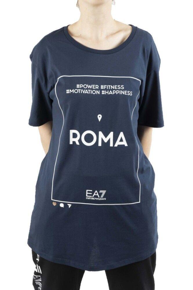 Ea7 T-Shirt Donna Train Graphic, Taglia: L, Per adulto Donna, Blu, TJ9BZ-3HTT22-1554, IN SALDO!