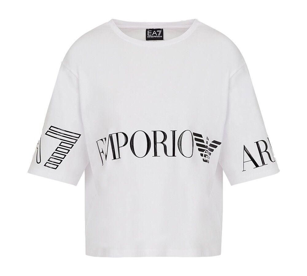 Ea7 T-shirt Donna Train Shiny, Taglia: M, Per adulto Donna, Bianco, TJ29Z 3KTT18 0102, IN SALDO!