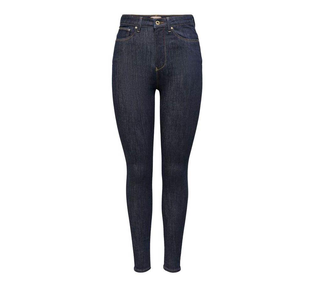 Only Jeans Donna Ask Hush Lif Mid Ankle Rinse Skinny, Taglia: XS, Per adulto Donna, Blu, 15209821 DARK BLU