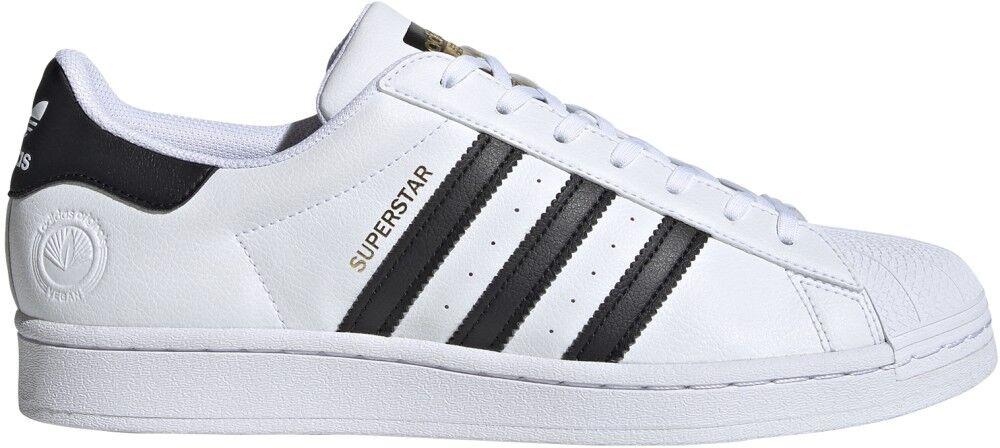 Adidas Sneakers Scarpe Superstar Vegan, Taglia: 43 1/3, Unisex, Bianco, FW2295, IN SALDO!