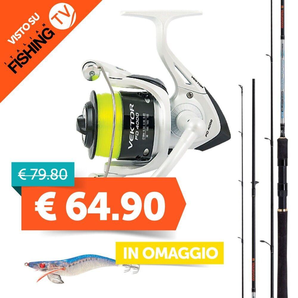 Trabucco Combo Eging Pulse Eging Master + Vektor FD 3000 Italian Fishing TV