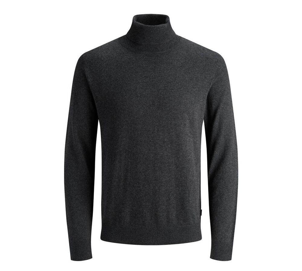 Jack & Jones Dolcevita Uomo Pullover JJ Eemil Knit Noos, Taglia: XL, Per adulto Uomo, Grigio, 12157417 DARK GRE, IN SALDO!