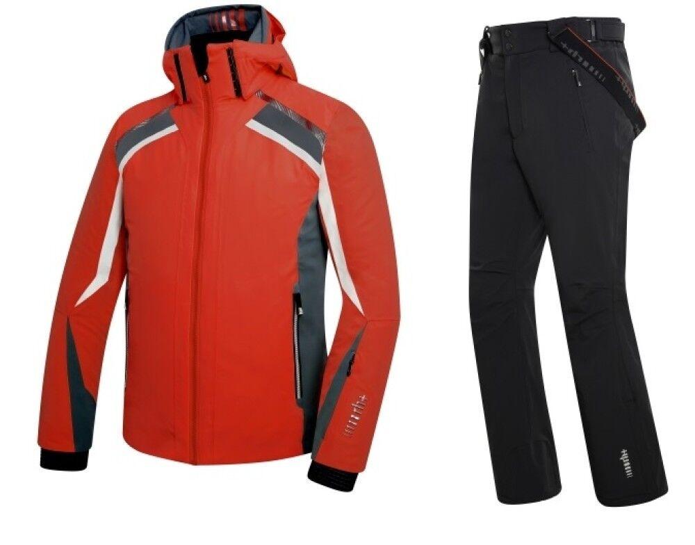 Zerorh+ Giacca Storn & Pantalone Peak, Taglia: Unica, Per adulto Uomo, Rosso