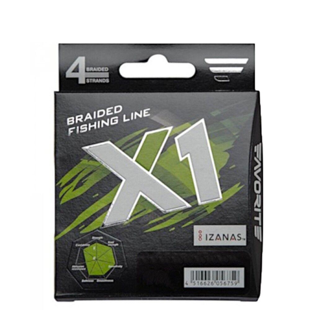 Favorite Trecciato Braid X1 150 MT PE 1,5 0,205 mm, Verde, FAX1PEG150020