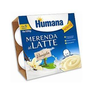 humana italia spa humana merenda latte vaniglia 4x100g