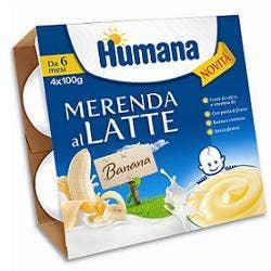 humana italia spa humana merenda banana 4x100g 6mesi+
