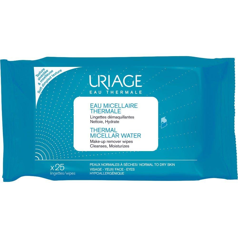 uriage acqua micellare termale pelli normali/secche 25 salviette