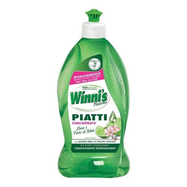 MADEL SPA Winni's Detersivo Piatti Lime/Fiori di Mela 750 ml