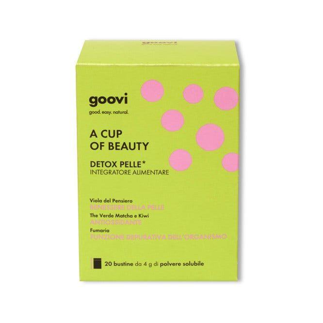 the good vibes company srl goovi integratore a cup of beauty detox pelle 20 bustine da 4g