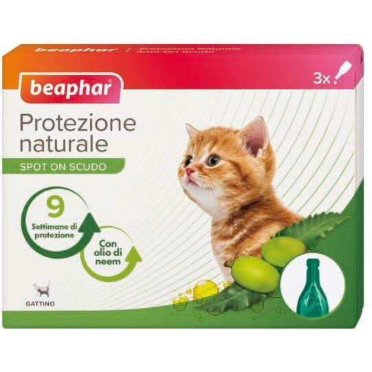 beaphar b.v. beaphar protezione naturale spot on antiparassitario gattino 3 pipette da 0,4ml