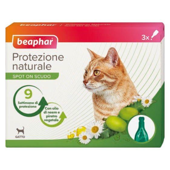 beaphar b.v. beaphar protezione naturale spot on antiparassitario gatto 3 pipette da 1ml