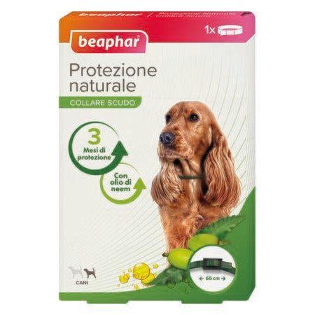 beaphar b.v. beaphar protezione naturale collare antiparassitario cane piccolo/medio 65cm di lunghezza